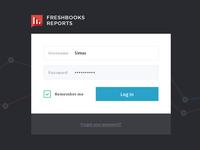 FreshBooks Reports Login Form