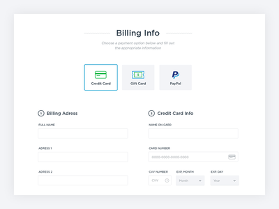 Checkout Billing Information