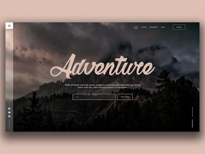 Adventure dribbble shot
