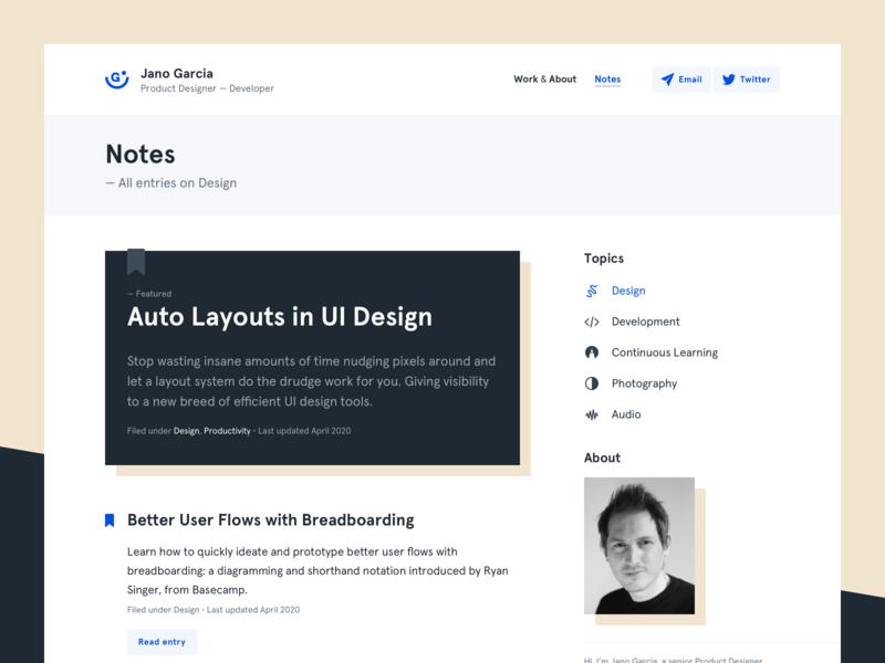 Portfolio — Blog blog product design design system design ui ux website web portfolio