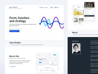 Portfolio — Home product design design system design ui ux website web portfolio