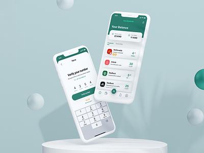 Mobile App UI - Rewards interface typogaphy statistics mobile icons cart card shopping payment order ux ui app