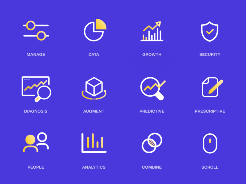 Icon Set - AI Website icon design design vector web iconset identity set website ux ui icons icon branding