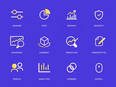 Icon Set - AI Website icon design design vector web iconset identity set website ux ui icons icon branding