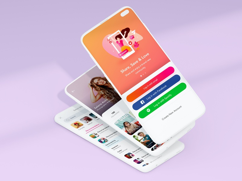 Video App For iOS design mobile experience user music profile login web ios illustration card video ux app ui