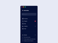 Sidebar Navigation - Vencortex animation grid layout user experience user interface ux ui dashboard web stats icon icons expandable desktop navigation menu sidebar menu sidebar