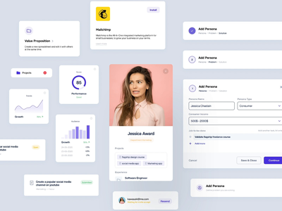 UI Components - Dashboard dashboard system design card chart grids form field components library interface icons statistics graphs app component web ux ui animation