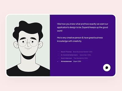 Animated Slider app user experience typography illustration website webdesign web ux ui slider profile minimal interface interactive icon design animation