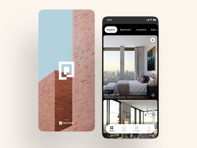 Portal minimal property search mobile app app design ios architechture cards ui property management uidesign real estate user experience card interface app design ux ui house apartment