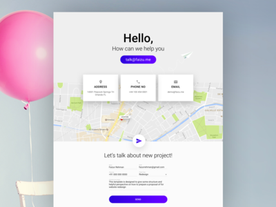 Contact page design!