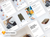 Free Material Design Card For Products, Blog & Shopping