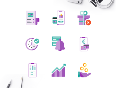 Flat Icons Illustration Design