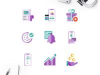 Flat Icons Illustration Design