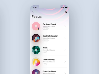 Meditation Music App (sketch freebie) animation gif sketch interaction free freebie dark mode music cover workout health ux ui design interface app ios iphonex minimal