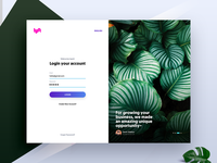 Split hero design - landing page