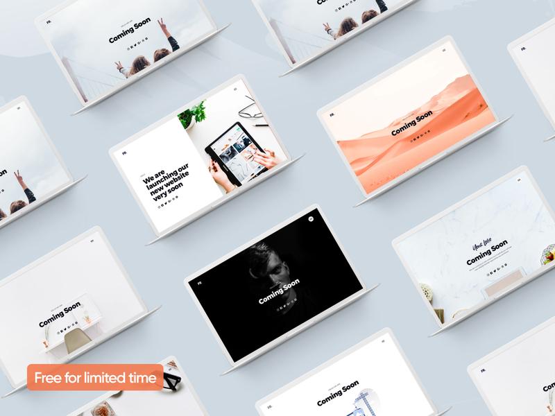 Freebie - Comingsoon pages website card free ux design ui product layout page landing web minimal interface freebie website app
