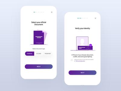 Onboard Screens UI design