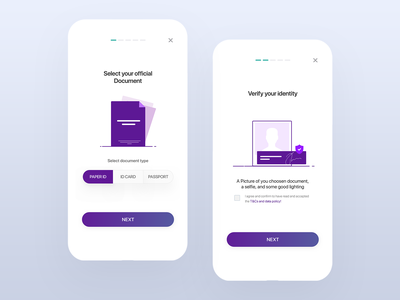 Onboard Screens UI design blue step web screen onboarding illustration ios app minimal design ux ui