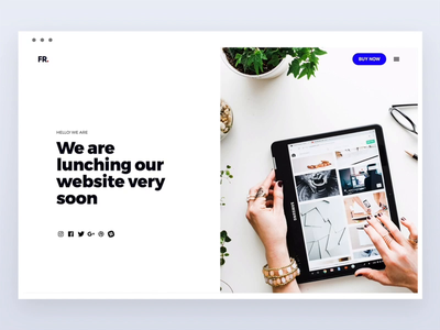 Landing Page - Coming soon! typogaphy web design landing page design interface flat under construction maintenance clean minimal web website coming soon landing page