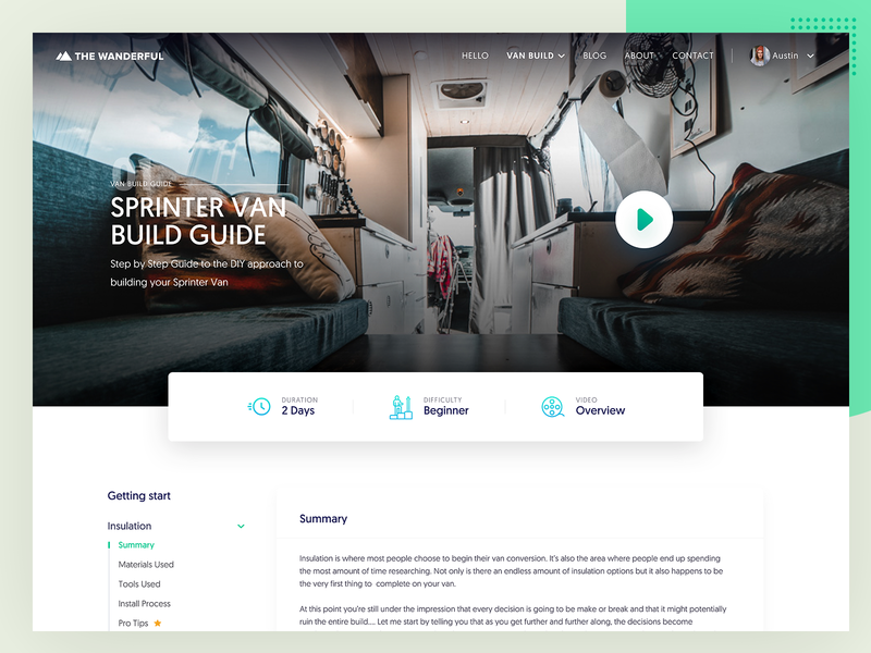 Get Started Page - TheWanderful page content travel experience lander landing b2c website web minimal interface design ux ui