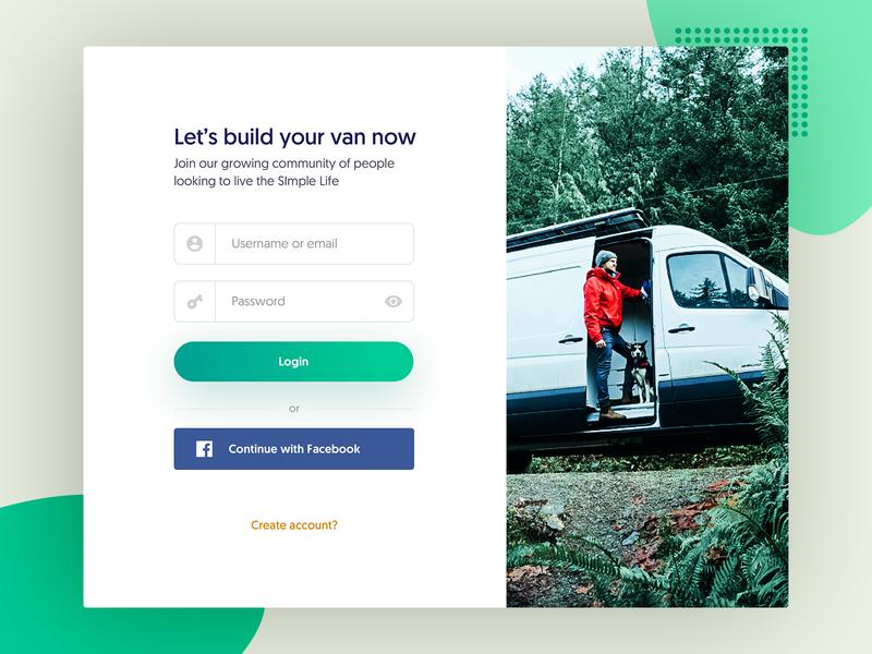 Login Screen Modal - Website login screen user typography responsive product interface experience app design page ux ui login web website