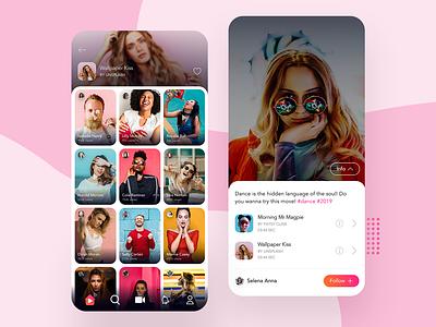 App Design - Twiddle App icons feed album track music video app uiux uidesign search user experience ui ios android app