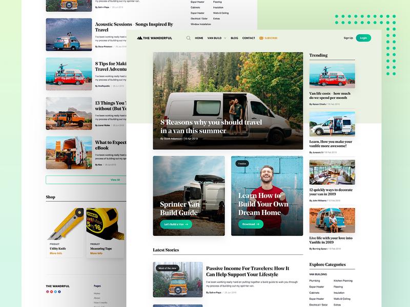 Wonder - Web Design experience responsive blog landing page homepage product interface web user ux ui typography lander design app website