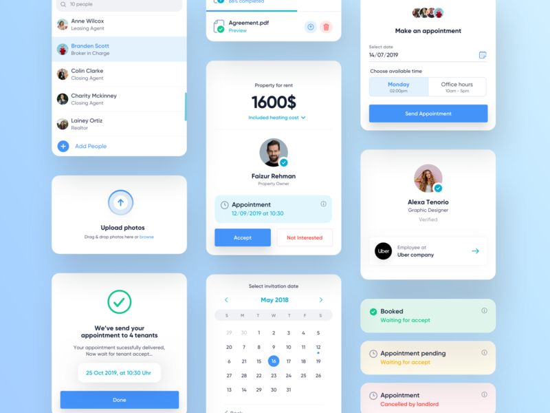 Design system icons branding flat ios cards user experience ui design design system components app design web mobile calendar upload profile interface experience ux ui