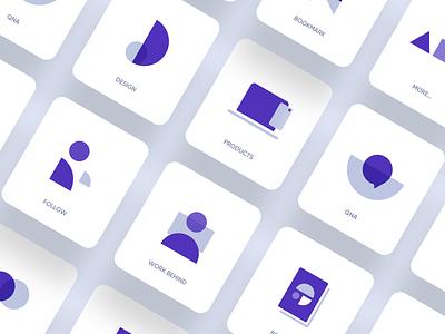 Icon Design figma sketch graphic website icon system visual identity ux ui branding web illustration geometric flat abstract vector icon set icon design