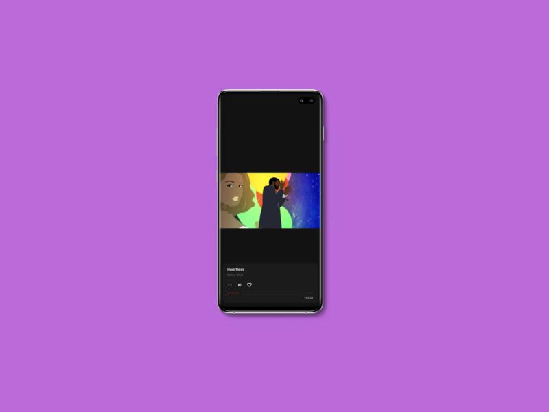 Mobile Player ui bottomsheet overlay video darklayout fullscreen videoplayer youtube spotify
