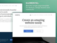 Elemental - Single Page Theme