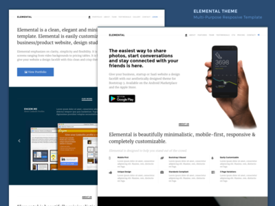 Elemental responsive bootstrap template by bharani dribbble elemental responsive bootstrap template maxwellsz