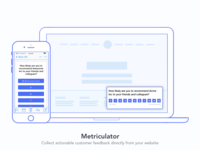Metriculator - In app customer survey tool