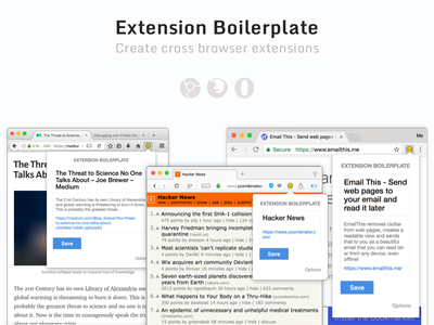 Extension Boilerplate sketch firefox js css chrome extension open source
