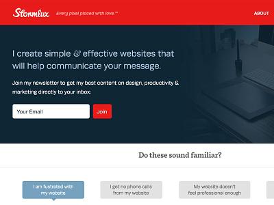 Stormlux 2.0 Header stormlux header red newsletter