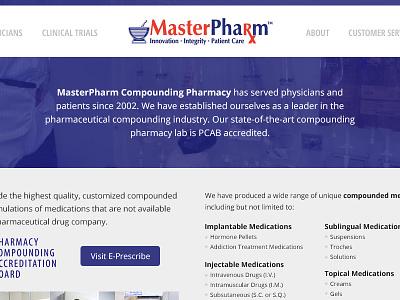 MasterPharm design website design stormlux