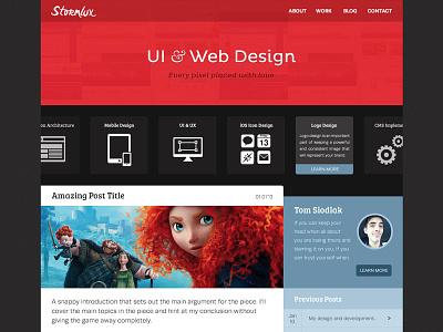 Stormlux Website stormlux home freelance freelance web freelance design ui red