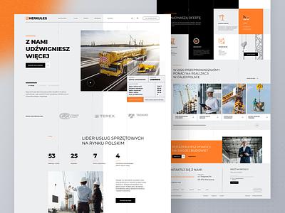 Construction Website uidesign ux craft adobe xd construction website ui crane construction construction company