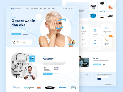 Optician Products Website userinterfacedesign ui ux adobexd uidesign medical design medical care medical optician