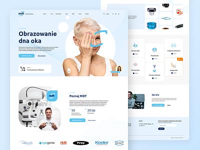 Optician Products Website userinterfacedesign ui ux adobexd uidesign medical design medical care medical optician