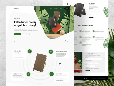 Eco Product Landing Page branding landing page ui landing page ux graphic design notebook plant uidesign adobe xd