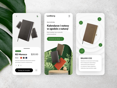 Eco Product Mobile View flat minimal 2d ux uidesign eco product eco page notebook eco mobile ui mobile ui adobe xd
