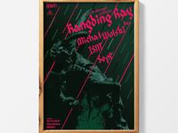 Kangding Ray, gig poster.