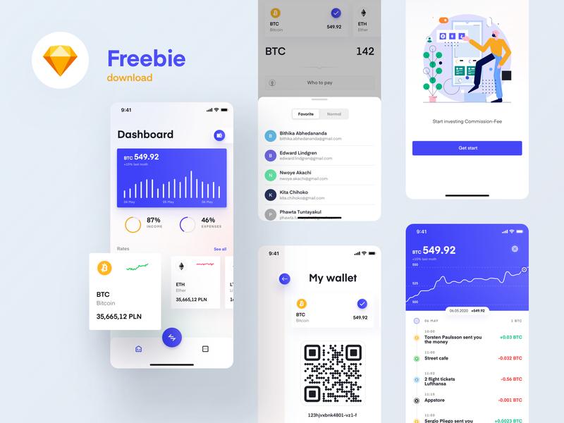 Freebie - Spend & Invest Cash illustraion chart cryptocurrencies cryptocurrency currency cash fintech invest spend design minimal app download free freebie ux ui