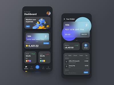 Track your spending - financial concept app wallet app design concept app financial app ui ux budget fintech financial expenses