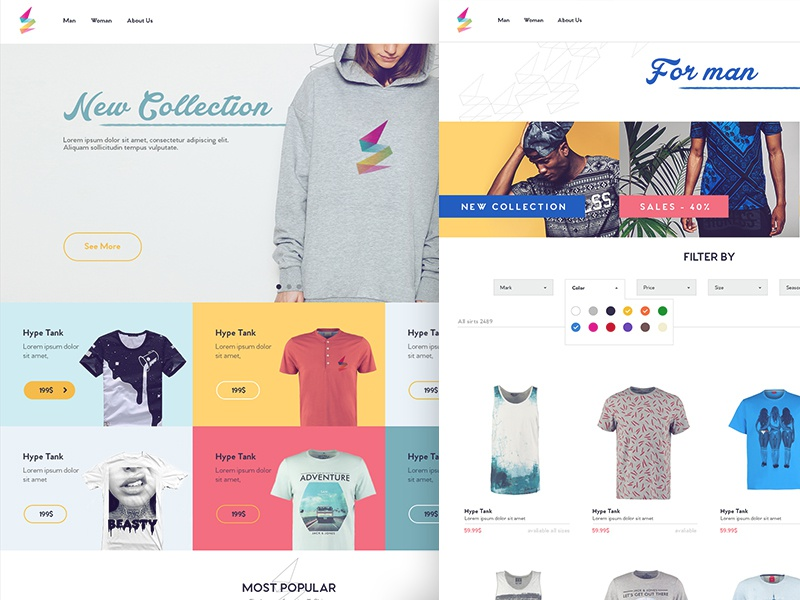 ApparelCO - shop size shirt shop apparel site website ux ui