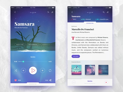 Mute app wave mobile application genre player music ux ui