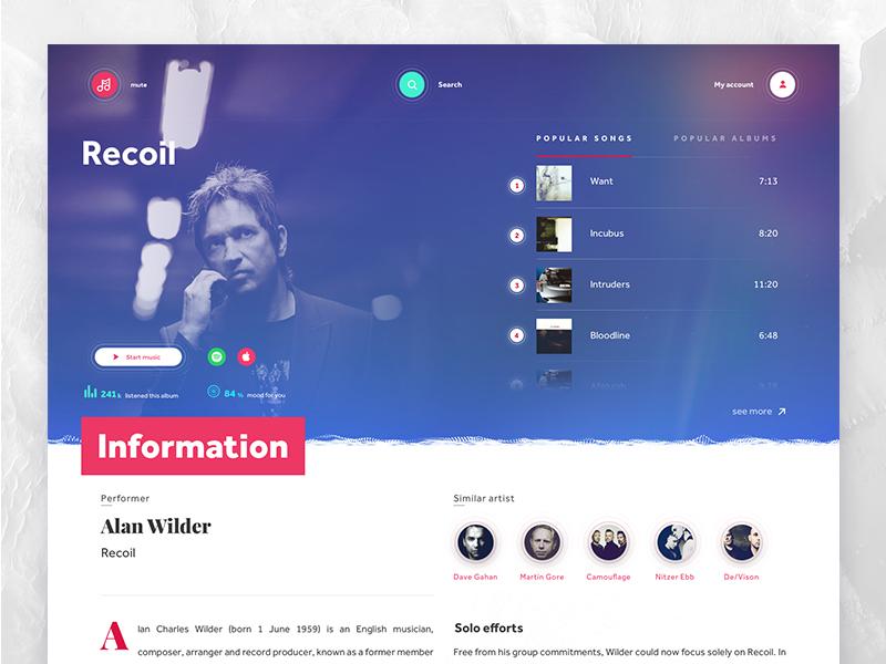 Mute desktop - music app desktop application genre music ux ui