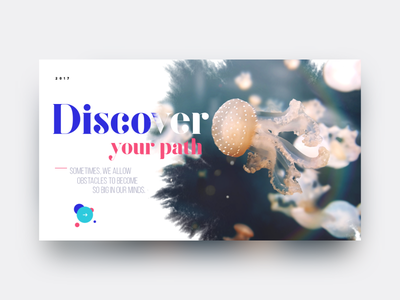 Discover your path discover web motion app ink picture animation ui