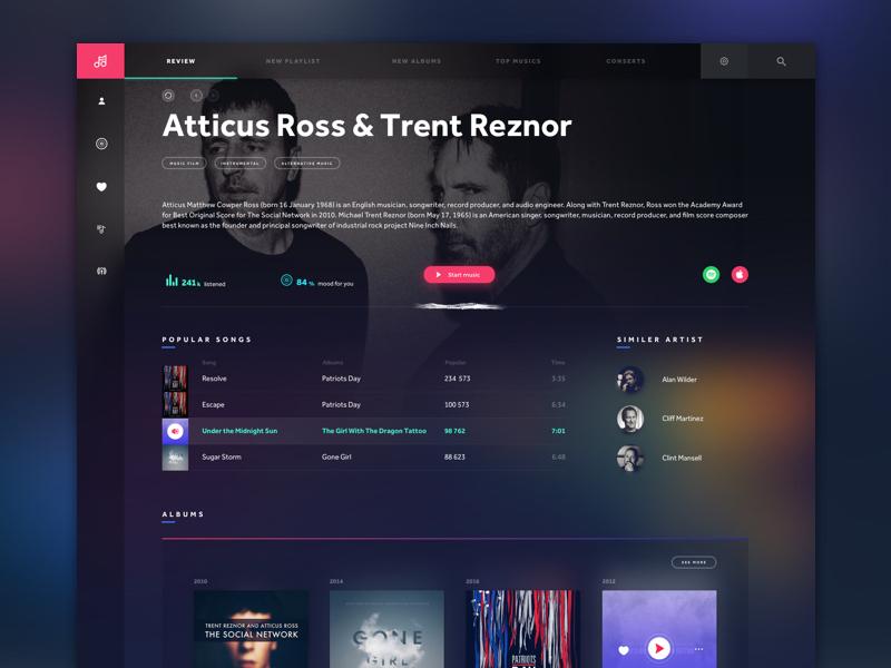 mute desktop app - music application genre artist music mute ux ui desktop application
